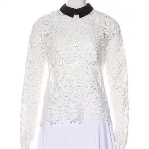 🤩NEW- SELF PORTRAIT white zip back w/black color.